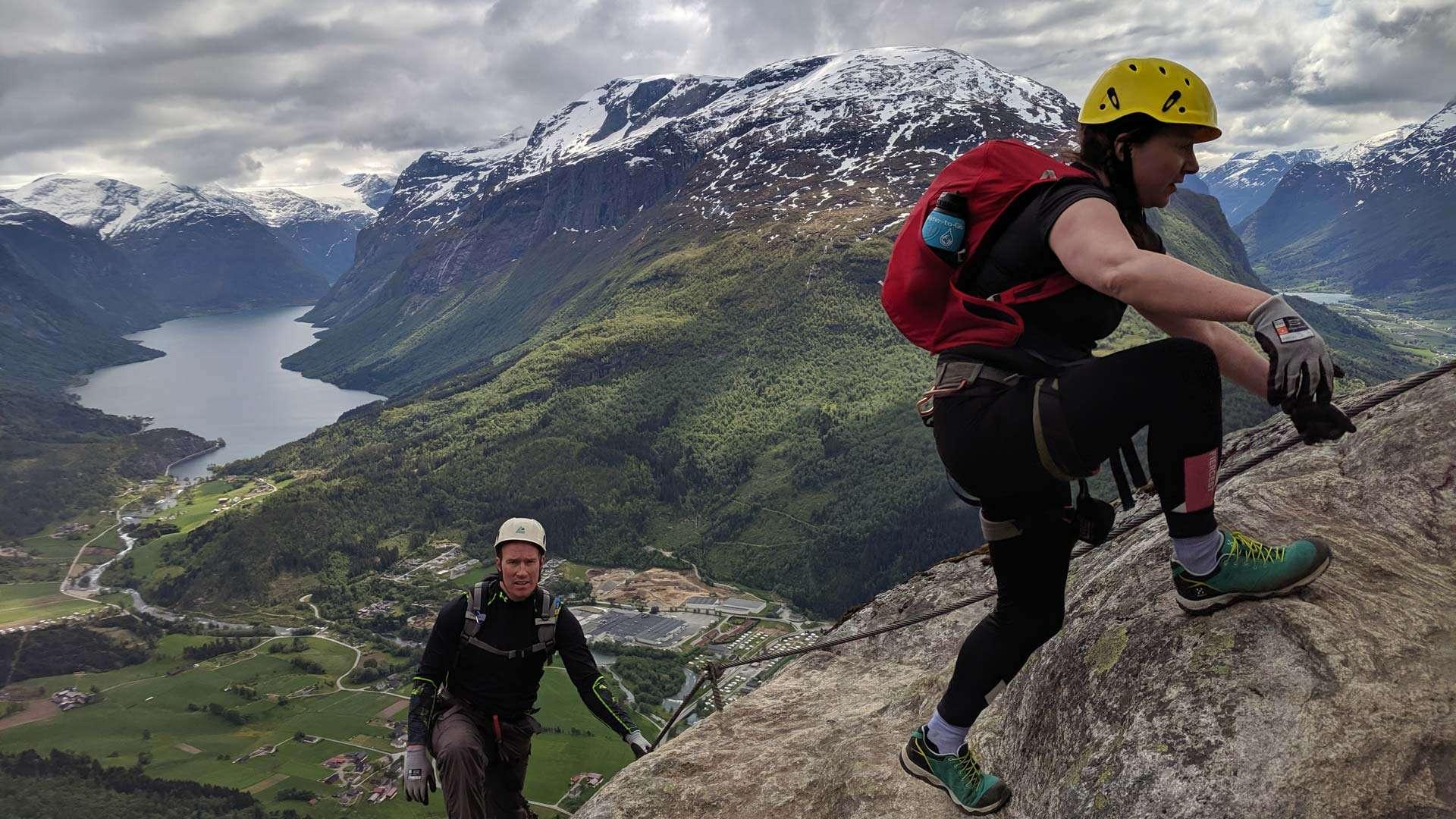 SUP Norway-Loen via ferrata
